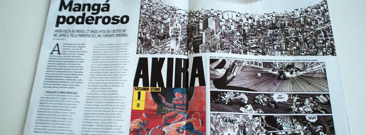 imagem da materia na revista mundo dos super heróis
