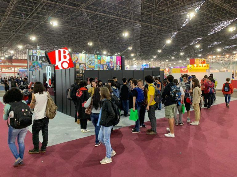 Estande da editora JBC no Anime Friends 2019